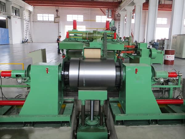 double head uncoiler with coil car