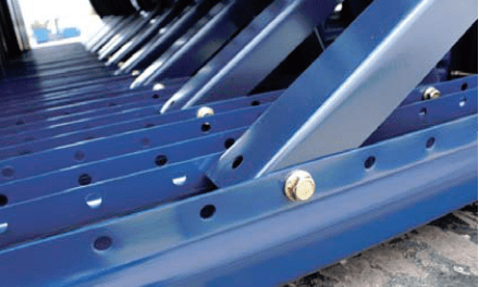 bolted upright pallet racking