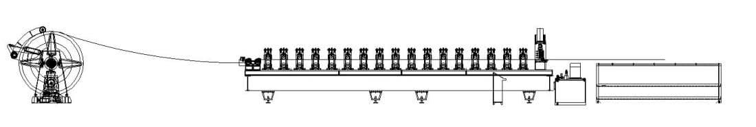 layout of corrugaed sheet roll forming machine