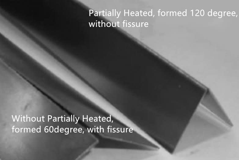 Partially Heated Rollforming Process
