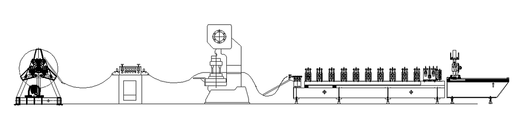 layout of scaffold plank roll forming machine